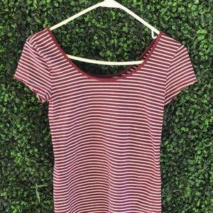 red velvet striped shirt from GAP